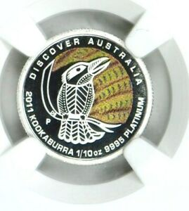 2011 P Platinum $15 Australia Dreaming Kookaburra NGC PF70 Ultra Cameo 1/10 Oz
