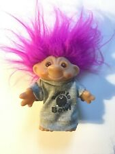 "Collectible Bright Pink Troll Doll ""Born To Bowl� 1986 D.A.M. China"