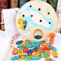 Cute Children Magnetic Rod Game Digital Wooden Fishing Educational Kids Toy MI