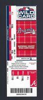 2012 ATLANTA BRAVES FULL UNUSED BASEBALL TICKET  CHIPPER JONES FINAL GAME & HIT