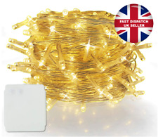 500 LED Battery Powered Christmas Deco Party String Fairy Lights, Warm White UK