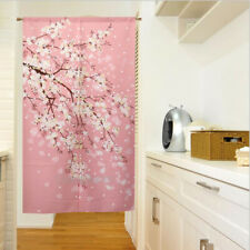 "Japanese Noren Door Curtain Doorway Tapestry Romantic Pink Sakura 33.5"" x 59"""