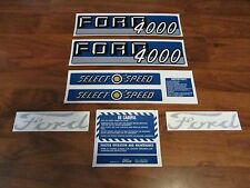 Ford tractor decal set 4000 select o speed with caution stickers 1115-1550