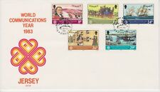 Unaddressed Jersey FDC First Day Cover 1983 Communications Year 10% off 5