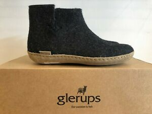 NEW GLERUPS CHARCOAL SLIPPERS 100 % PURE AND NATURAL WOOL BOOTS FOR WOMEN