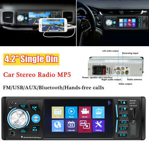 "4.3"" HD Single Din IPS Bluetooth Car Stereo Radio MP5 FM USB AUX Remote Control"