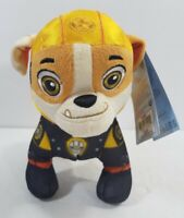 """Spin Master Paw Patrol 8"""" RUBBLE Plush Toy Standing MOTO PUPS Rescue"""