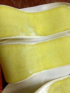 "Vintage 1.5"" Rayon Velvet  Ribbon 1yd Made in France"