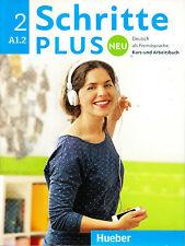 Hueber SCHRITTE PLUS NEU 2 Kursbuch + Arbeitsbuch A1.2 mit CD @NEW@ 2016 Edition