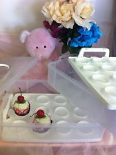 Cupcake Storage Carrier Container Holds 24 Cupcakes or Muffins Great for Parties