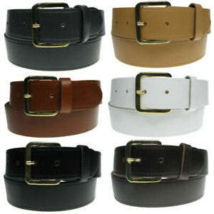 """New Mens Full 100% Leather Belt Made in England UK 28""""-60"""" Trousers and Jeans"""