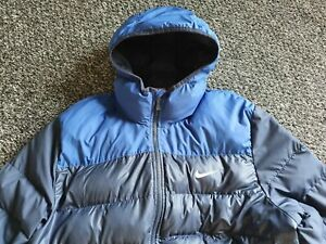 Nike puffer Jacket 2XL Mens Blue Black