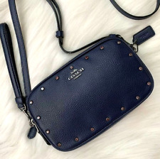 Coach Sadie Crossbody Clutch With Crystal Rivets 38931 Color-CADET