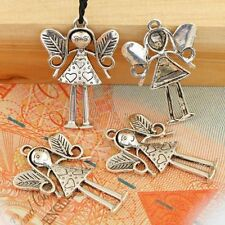 Wholesale 5pcs  Lovely Fairy Tibettan Silver Plated Pendant Charm Beads F1725
