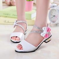 Womens Sweet Peep Toe Bowknot High Heels Sandals Kids Girls Dress Princess Shoes