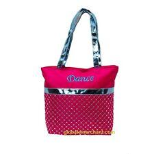 Girls Dance Tote Fuchsia & Metallic Blue Sequin Tote Bag New