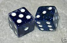 BLUE GLITTER TRANSPARENT DICE PAIR