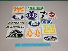 Skateboards Decals (16), Snowboard decals, Winter Sports Vinyl Stickers, Helmet