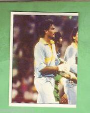1985 SCANLENS CRICKET STICKER #98  RAVI SHASTRI & DILIP VENGSARKAR, INDIA