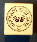Made with love rubber stamp WM P42