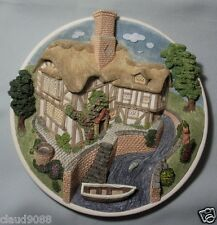 """DAVID WINTER """"ON THE RIVERBANK """"WALL PLAQUE COLLECTOR'S GUILD MINT &  REDUCED"""