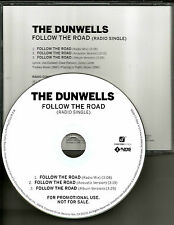 THE DUNWELLS Follow the Road w/ ACOUSTIC & RARE MIX USA PROMO DJ CD single 2012