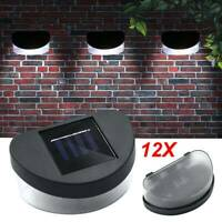 12 x SOLAR POWER LED GARDEN FENCE WALL LIGHTS PATIO OUTDOOR SECURITY LAMPS