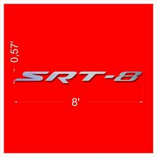 SRT-8 wall decor Letters Sign Garage Brushed Silver Aluminum 8 Feet wide.