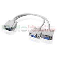 Sdoppiatore cavo VGA 15pin da 1 maschio a 2 femmina prolunga svga per monitor pc