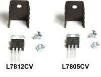 L7805 CV +5V or L7812 +12V Voltage Regulator / TO-220 with or without HEATSINKS