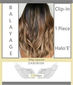 Balayage Halo Esque Hair Extensions Deluxe 160g Secret Wire for Hair Lovers! UK