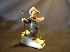 """Old Vtg #59 Hummel Goebel Porcelain 5"""" Skier Made In West Germany"""