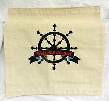 Nautical Theme Cotton Canvas Cushion Cover (C) New