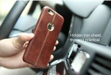 "VRSN For ""Apple iPhone 5/5S/SE"" Double Stitch Leather Shell Back Case Cover,"