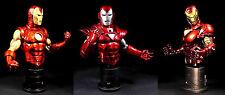 Iron Man Group 2 3 pack Bowen Marvel Comics Bust Statue Set Classic Stealth 2020