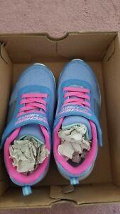 NEW Skechers Girls Purple Pink Glitter Madness Shoes Size 13 LED Light Up 85681L
