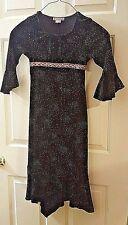 MY MICHELLE Long Sparkling Velvet Black & Pink Holiday Dress Size 11 Christmas