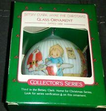 Hallmark Betsy Clark Home for Christmas Noel Glass Ornament 1988