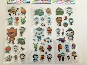 Octonauts Themed puffy Stickers Birthday gift loot bag kids craft 3 Sheets Set