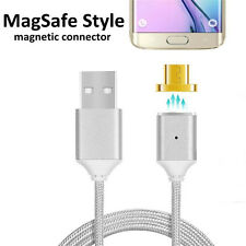 2.4A HIGH SPEED Micro USB Charging Cable + Magnetic Adapter For Samsung Android