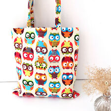 Owl Womens Canvas Capacity Handbag Shopping Shoulder Bag Shopper Tote LAU