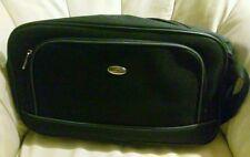 NWOT Pierre Cardin Designer Black Canvas Laptop Travel Case Luggage Tech
