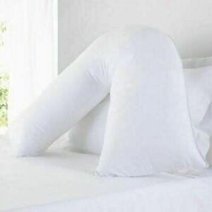 Extra Filled V Shaped Pillow Support for Pregnancy Maternity Nursing Neck & Back