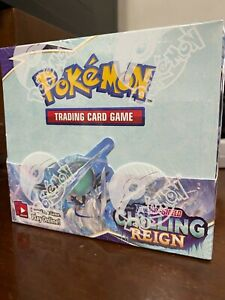 Pokemon Chilling Reign Booster Box Factory Sealed Brand NEW Ships NOW!