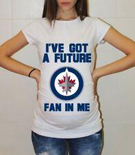 Winnipeg Jets Maternity Shirt Baby Shower Hockey Baby Pregnancy Tee Shirt