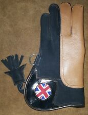"""Nubuck Leather Double Skinned Falconry Glove UK Flag, 12"""" Inches Small Size."""