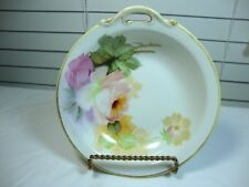 Nippon Hand Painted White Flower/Roses Bowl with Small Handle