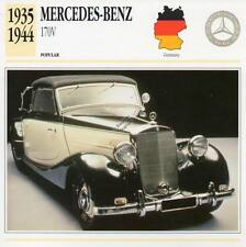 1935-1944 MERCEDES BENZ 170V Classic Car Photograph / Information Maxi Card