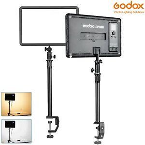 Godox LED P260C Video Light Panel Kit 3300K~5600K w/ Desk Clamp & Extender Pole