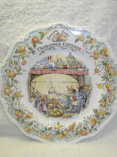 "BRAMBLY HEDGE CRABAPPLE COTTAGE 8"" WALL PLATE ROYAL DOULTON HOMES & WORKPLACES"